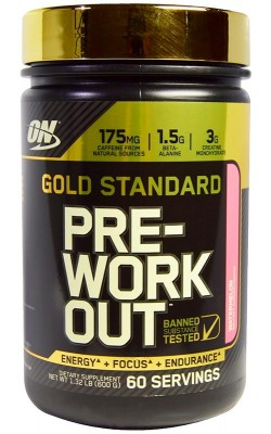 Gold Standard Pre-Workout 600 г Optimum Nutrition - купить за 2570