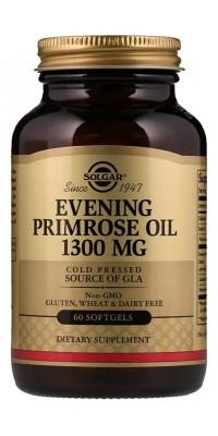 Evening Primrose Oil 1300 мг Масло вечерней примулы 60 гелевых капсул Solgar