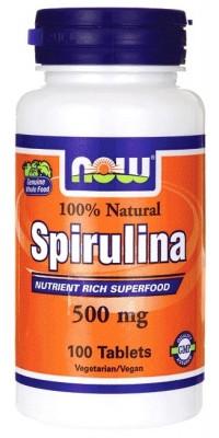 Spirulina 500 мг 100 таблеток Now