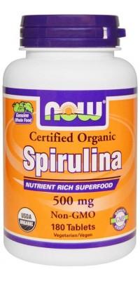 Spirulina 500 мг 180 таблеток Now