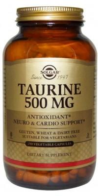Таурин Taurine 500 мг 250 капсул Solgar