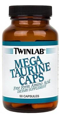 Таурин Mega Taurine 50 капсул Twinlab