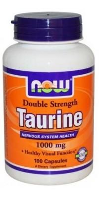 Таурин Taurine 1000 мг 100 капсул Now