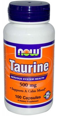 Таурин Taurine 500 мг 100 капсул Now