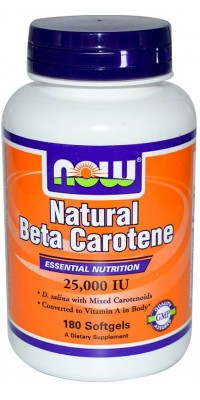 Natural Beta Carotene 25000 180 капсул Now
