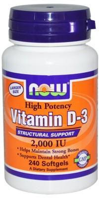 Витамин Д3 D-3 2000 Me 240 гелевых капсул Now