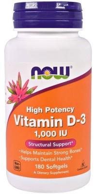 Витамин Д3 D-3 1000 Me 180 гелевых капсул Now