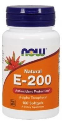 E-200 100 гелевых капсул Now