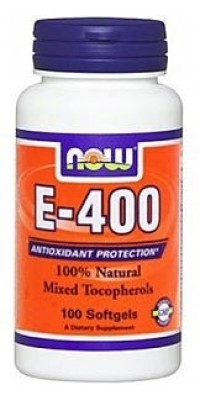 E-400 Mixed + Tocopherols 100 гелевых капсул Now