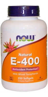 E-400 Mixed + Tocopherols 250 гелевых капсул Now