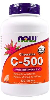 C-500 Chewable 100 жеват. таблеток Now