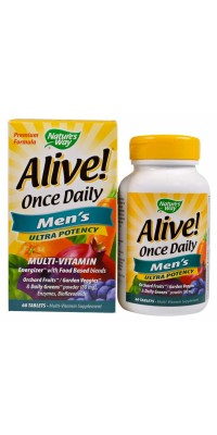 Alive! Once Daily Men's 60 таблеток Nature's Way