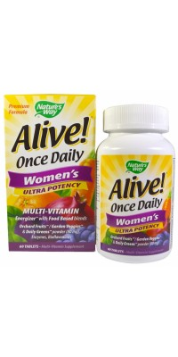 Alive! Once Daily Women's 60 таблеток Nature's Way