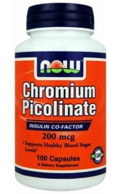 Now Chromium Picolinate 200 мкг 100 капсул - купить за 459