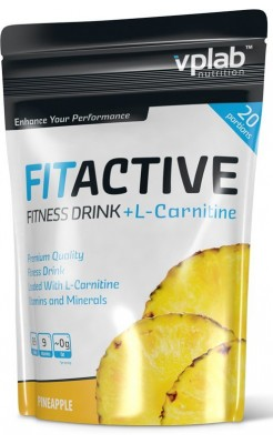 VPLab FitActive Fitness Drink + L-Carnitine 500 г